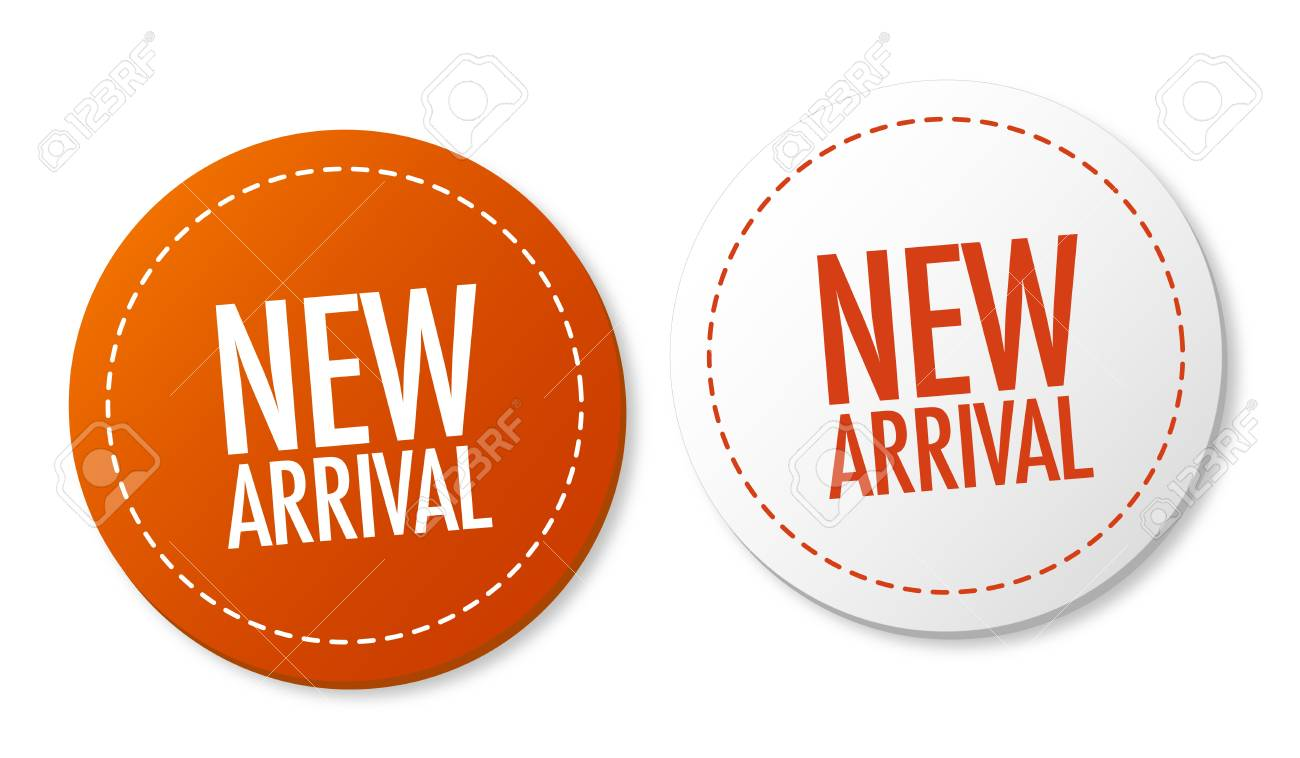 New arrival stickers Stock Vector - 10136421