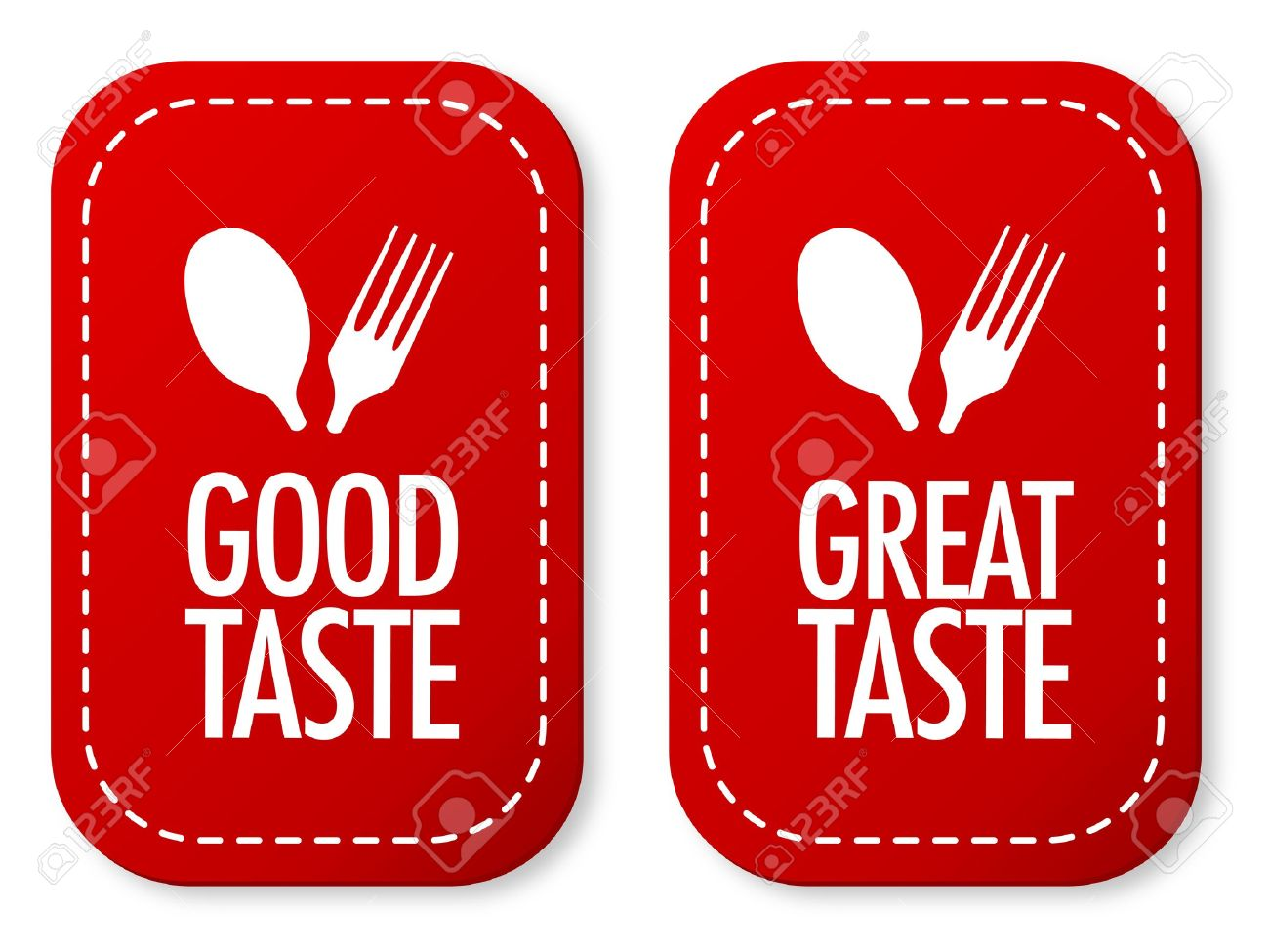 Good taste and Great taste stickers Stock Vector - 11255451