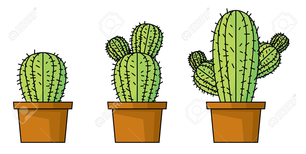 growth of cactus vector on white background royalty free cliparts rh 123rf com cactus vectoriel gratuit cactus vector free download