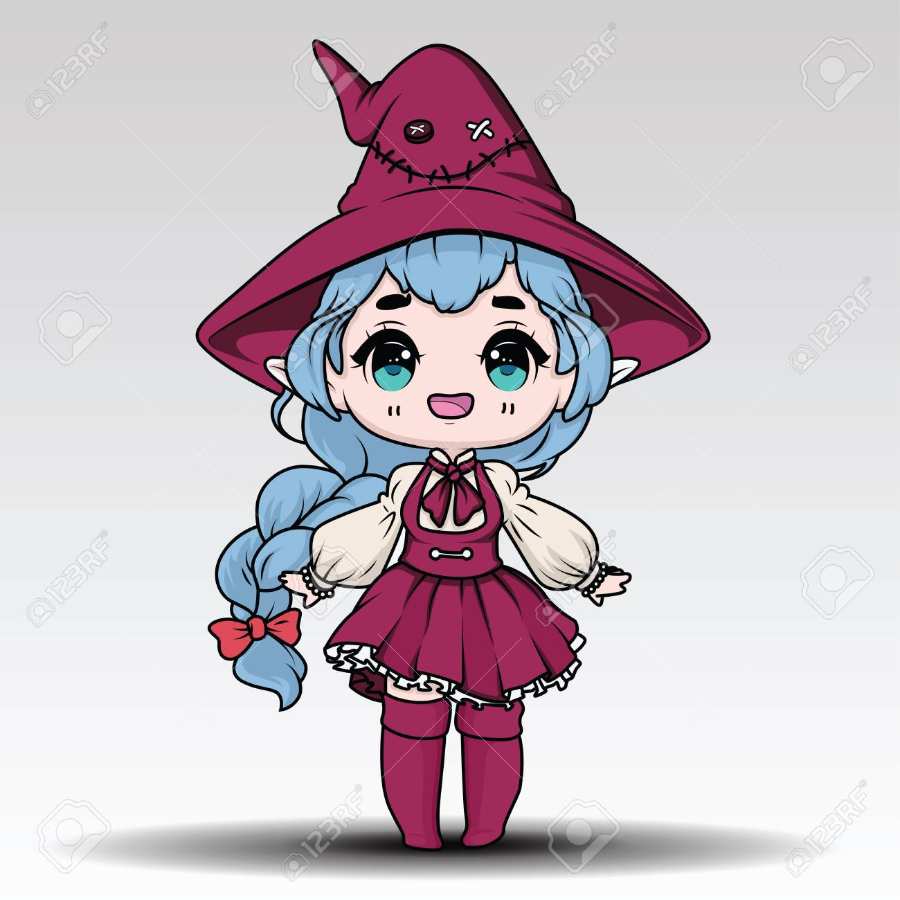 cute witch halloween., halloween content. royalty free cliparts