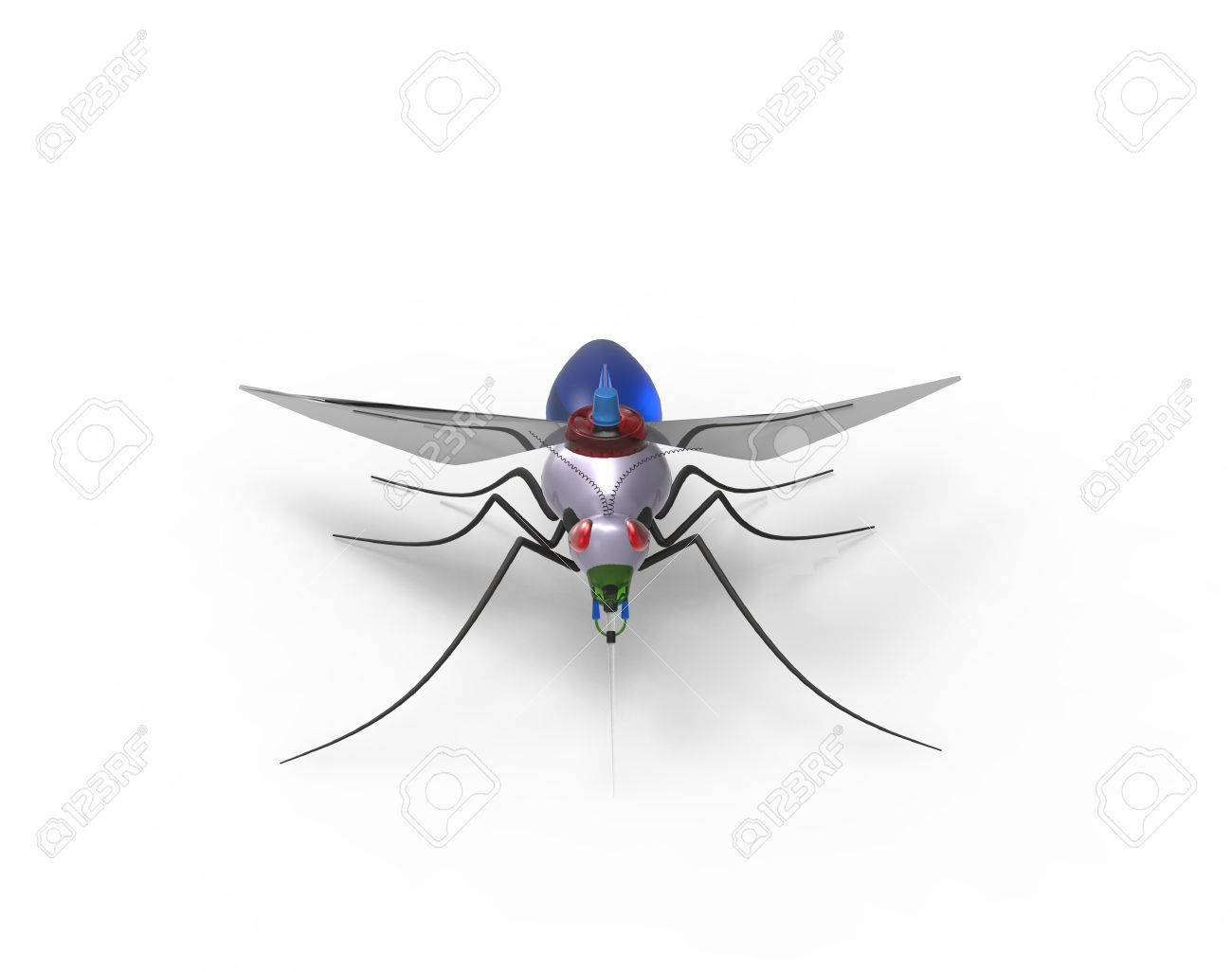 Futuristic Mosquito Nano Robots - 38517522