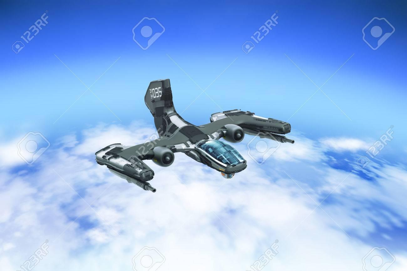 Combat Aerial Vehicle Prototype - 60934445