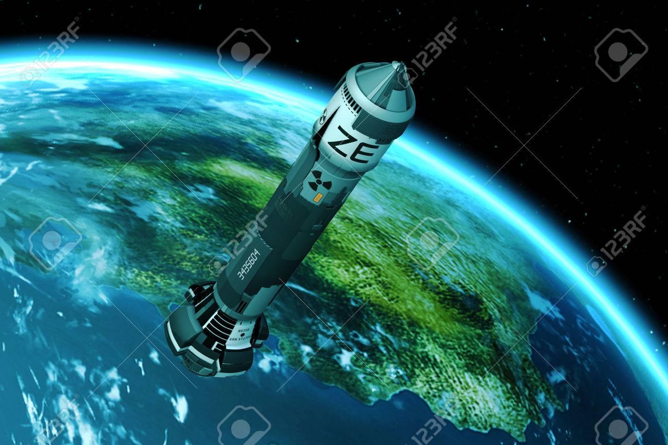 3D Nuclear Rocket Launch - 63141023