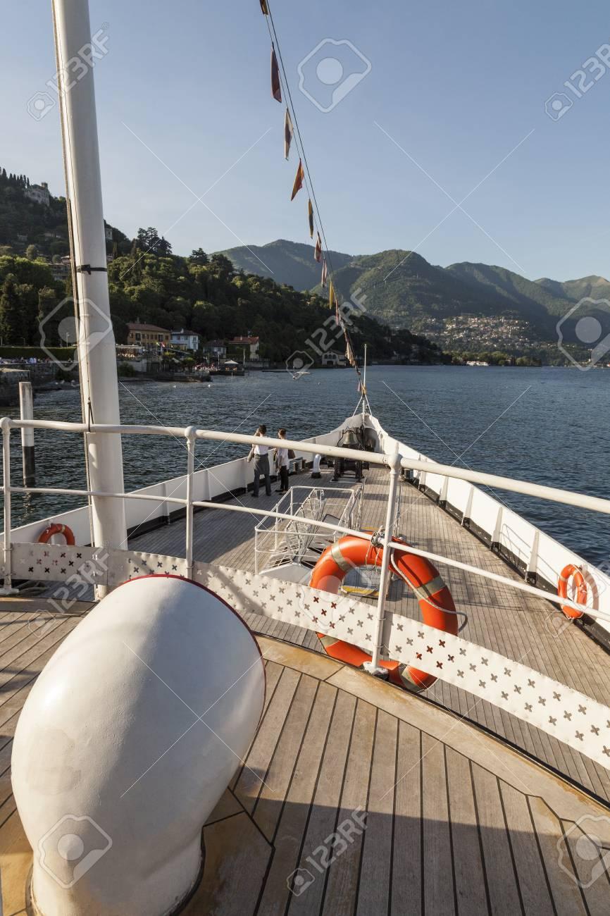 Boat sailing on Como Lake. Italy - 97218001