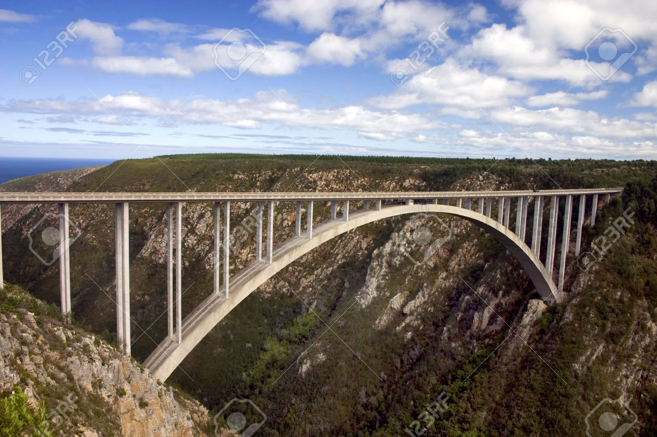 Bloukrans River Bridge On The Garden Route South Africa. A Famous ...