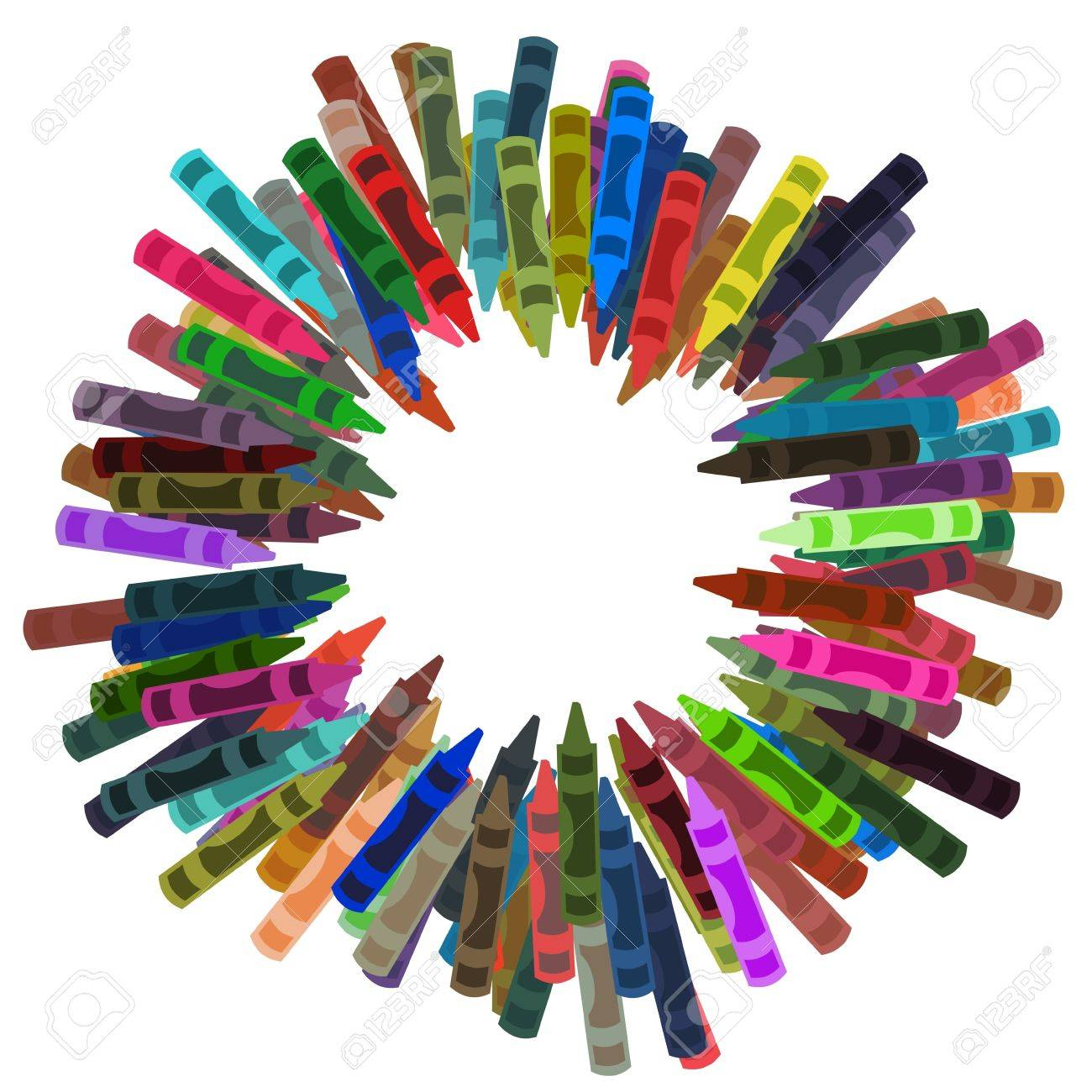 Frame made of Crayons Stock Photo - 2450133