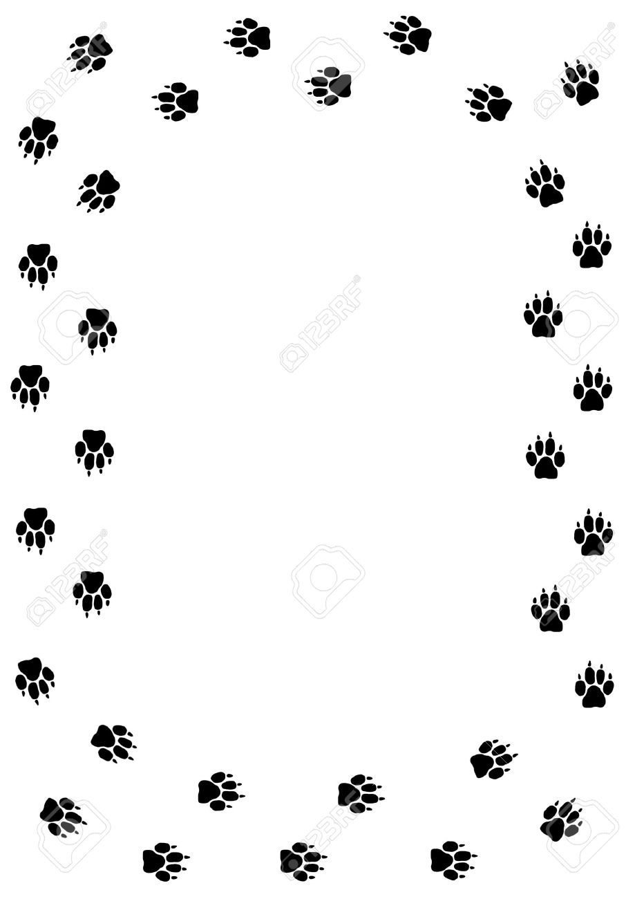 Frame Made Of Dog/mammal Paw Prints Stock Photo, Picture And Royalty ...