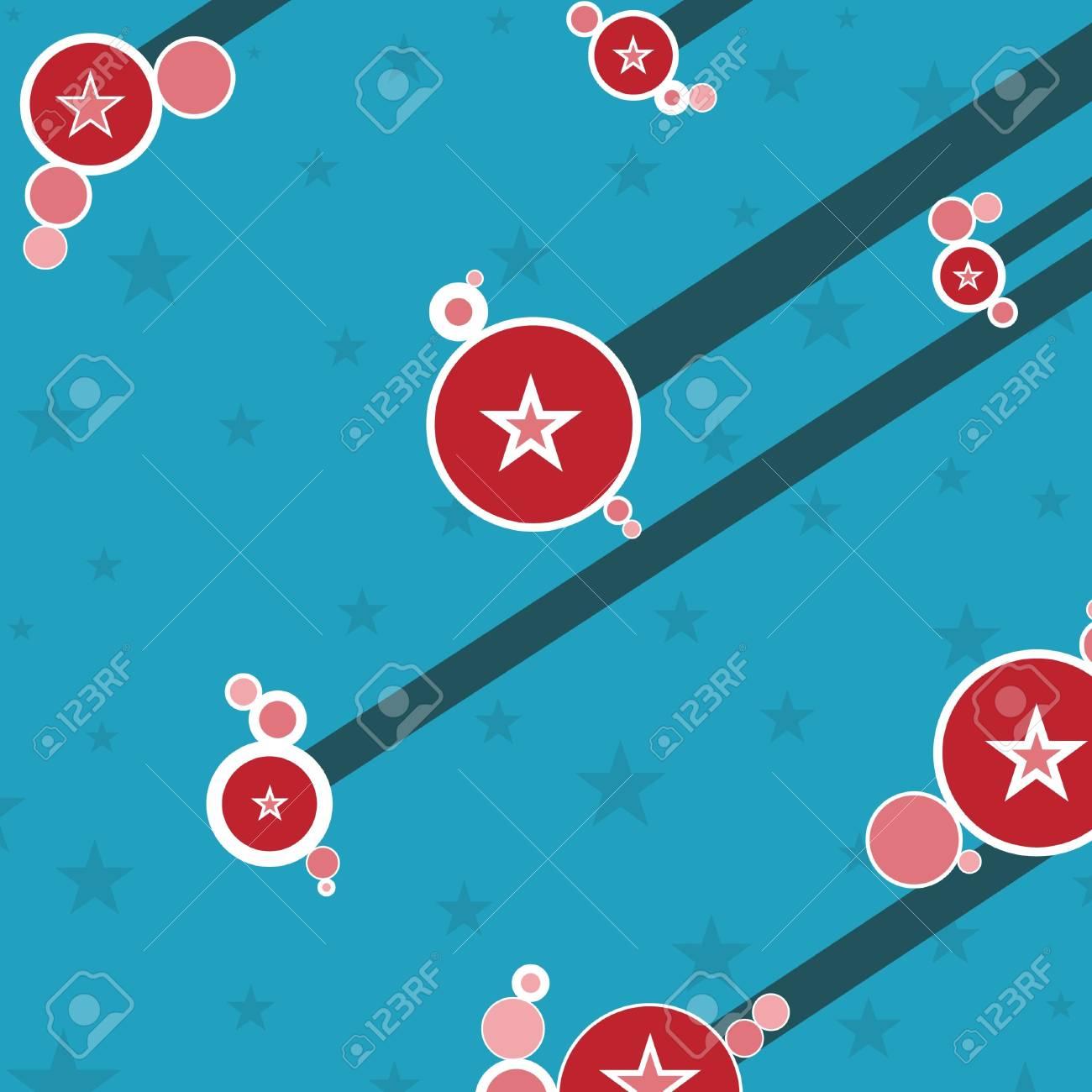 Abstract Retro circles and stars Stock Photo - 2459632