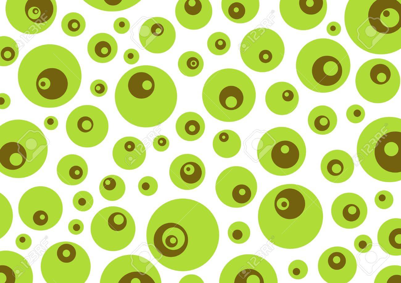 Green and brown retro circles background Stock Photo - 2459634