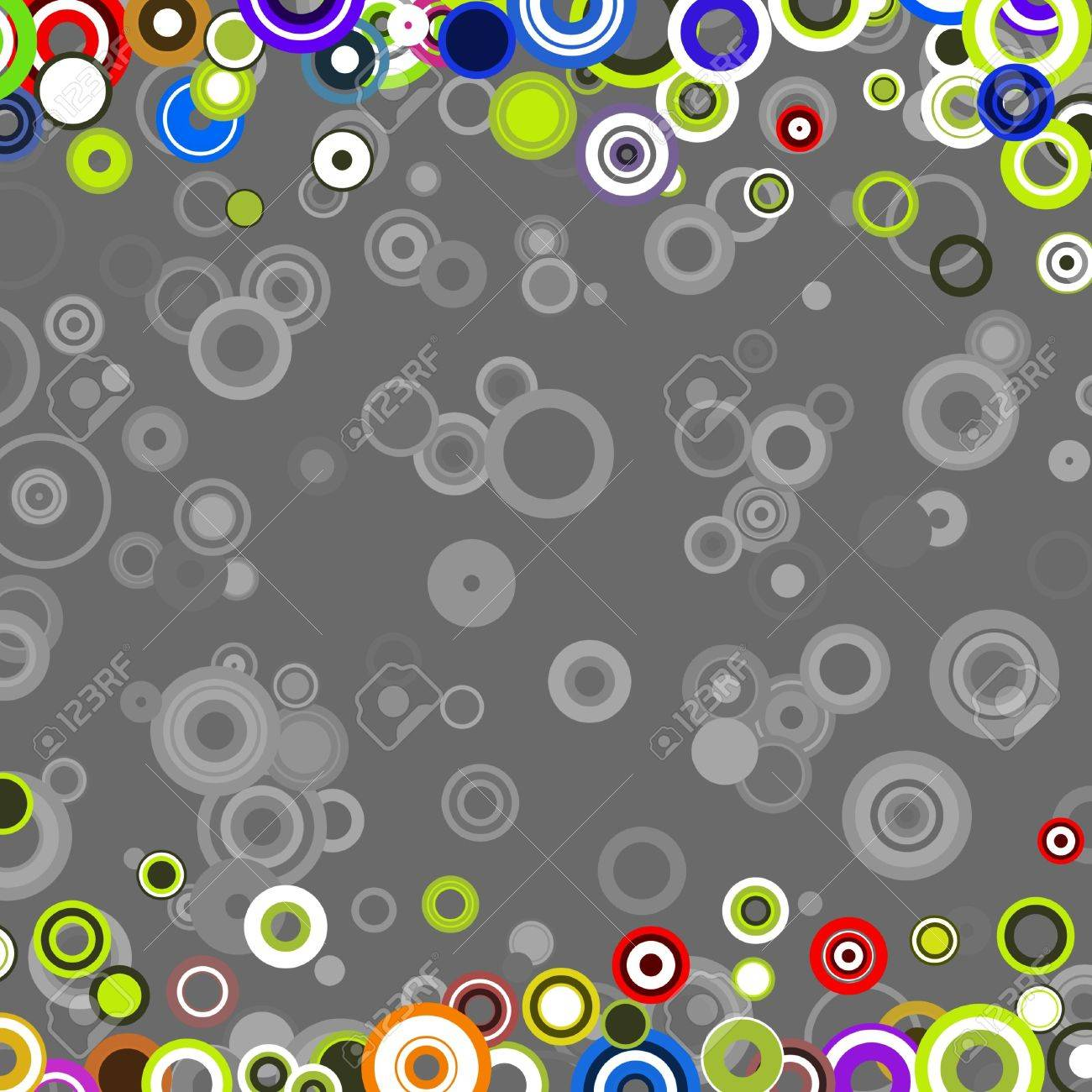 Illustrated retro abstract background made from circles Stock Photo - 2459639