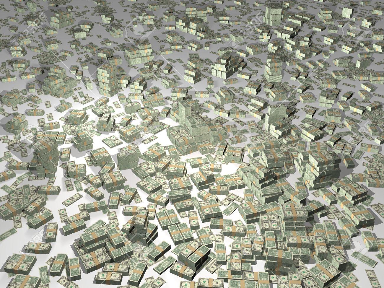 3D illustration of lots of money Stock Illustration - 2710970