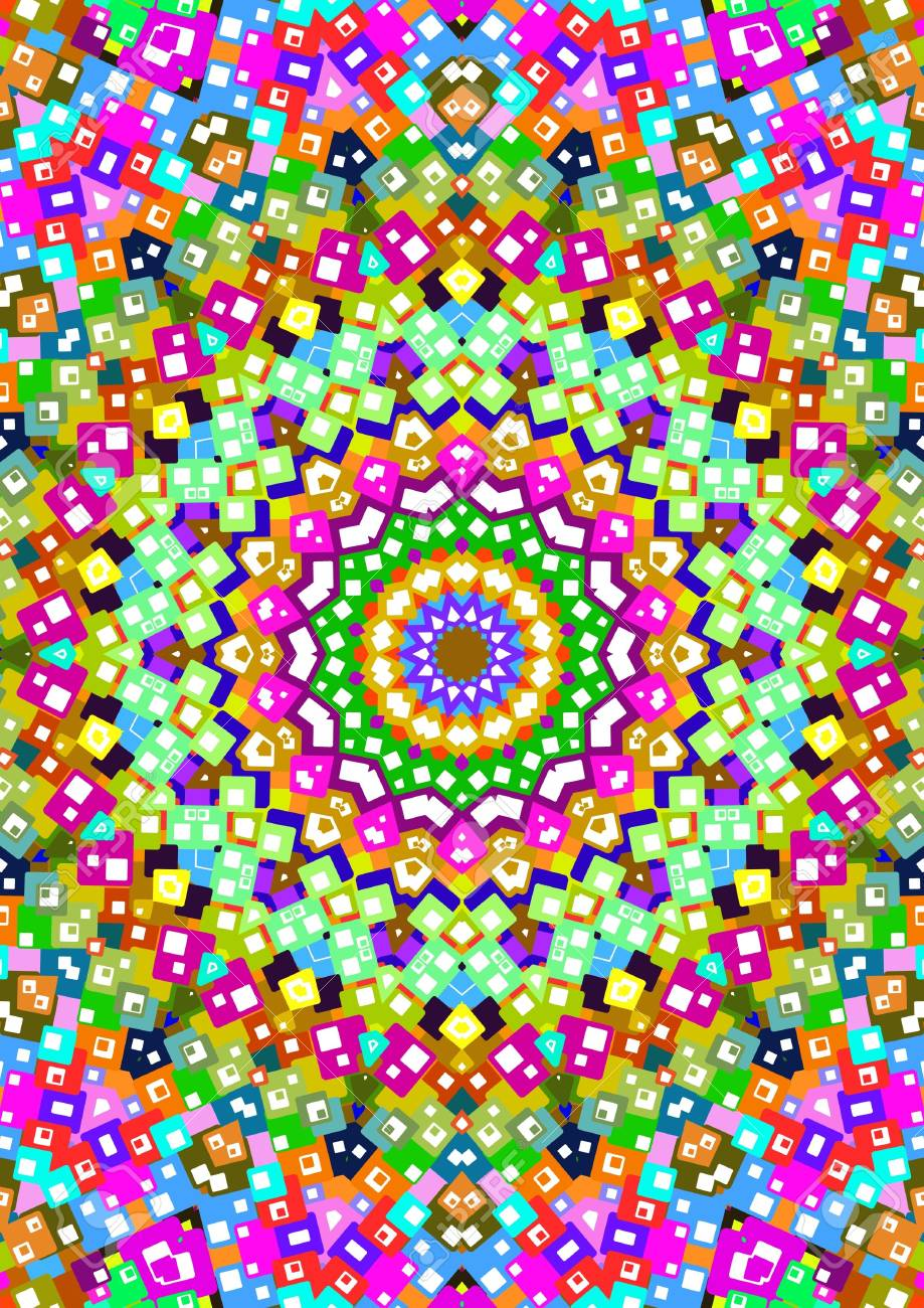 Illustration of a multi-colored kaleidoscopic background Stock Photo - 2937816