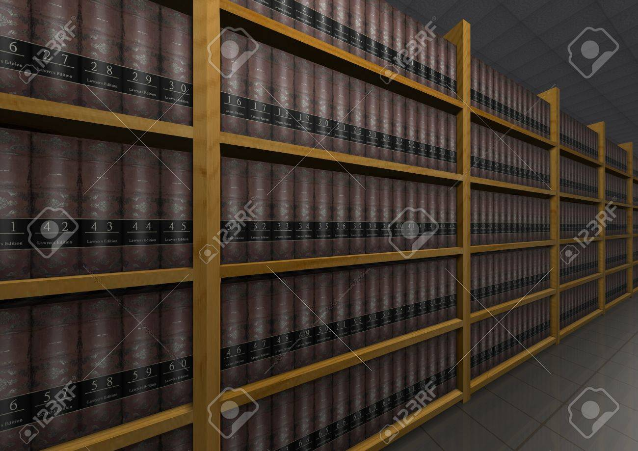 Illustration of lots of law books Stock Illustration - 7041833
