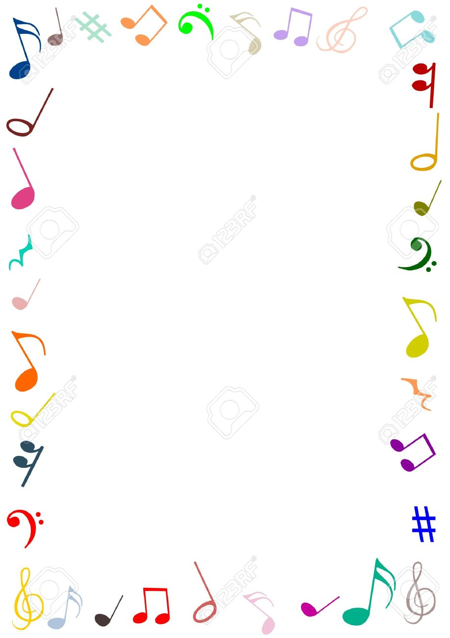 A Frame Made Of Musical Symbols Stock Photo Picture And Royalty