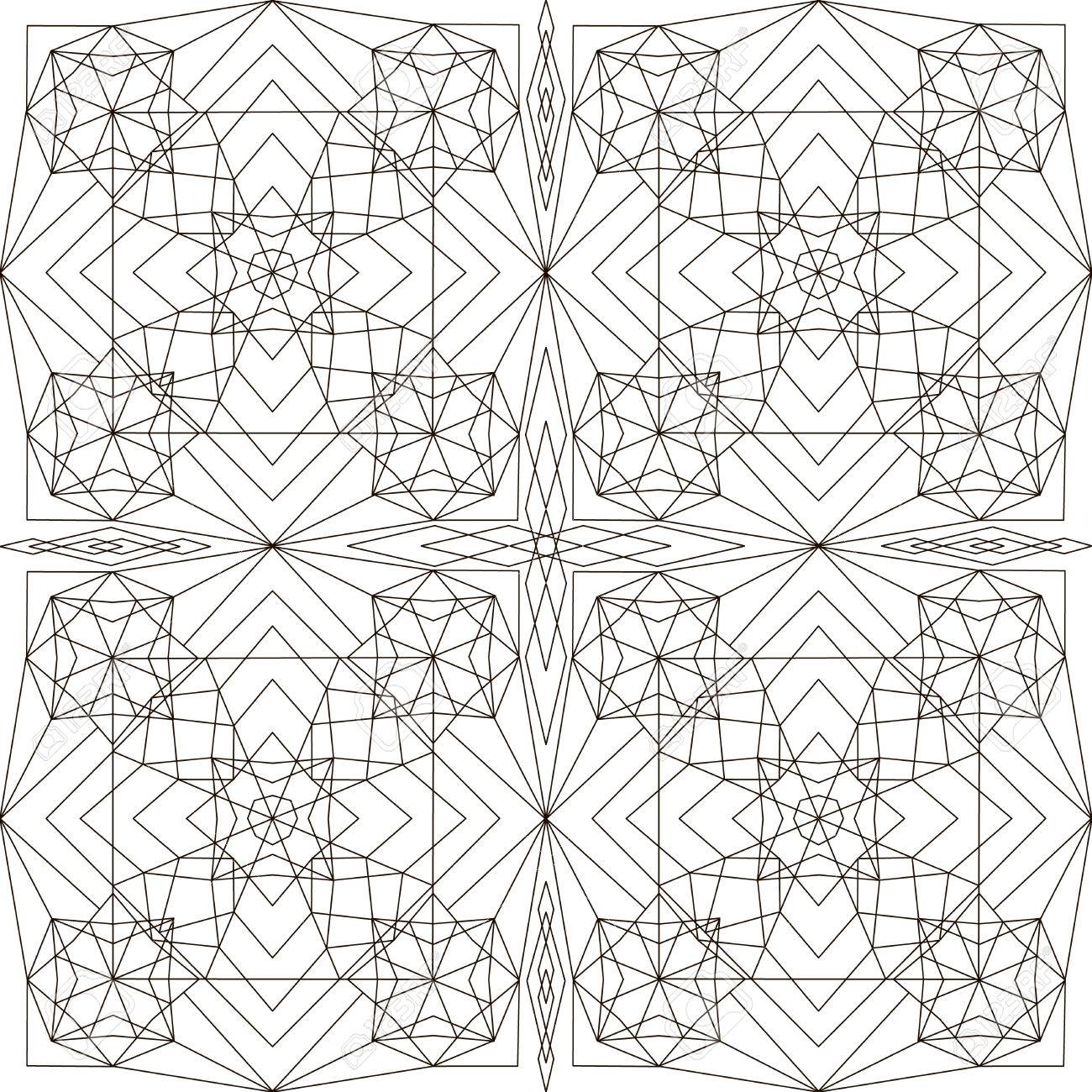 Patterns In Black And White. Page For Coloring Book. Geometrical ...