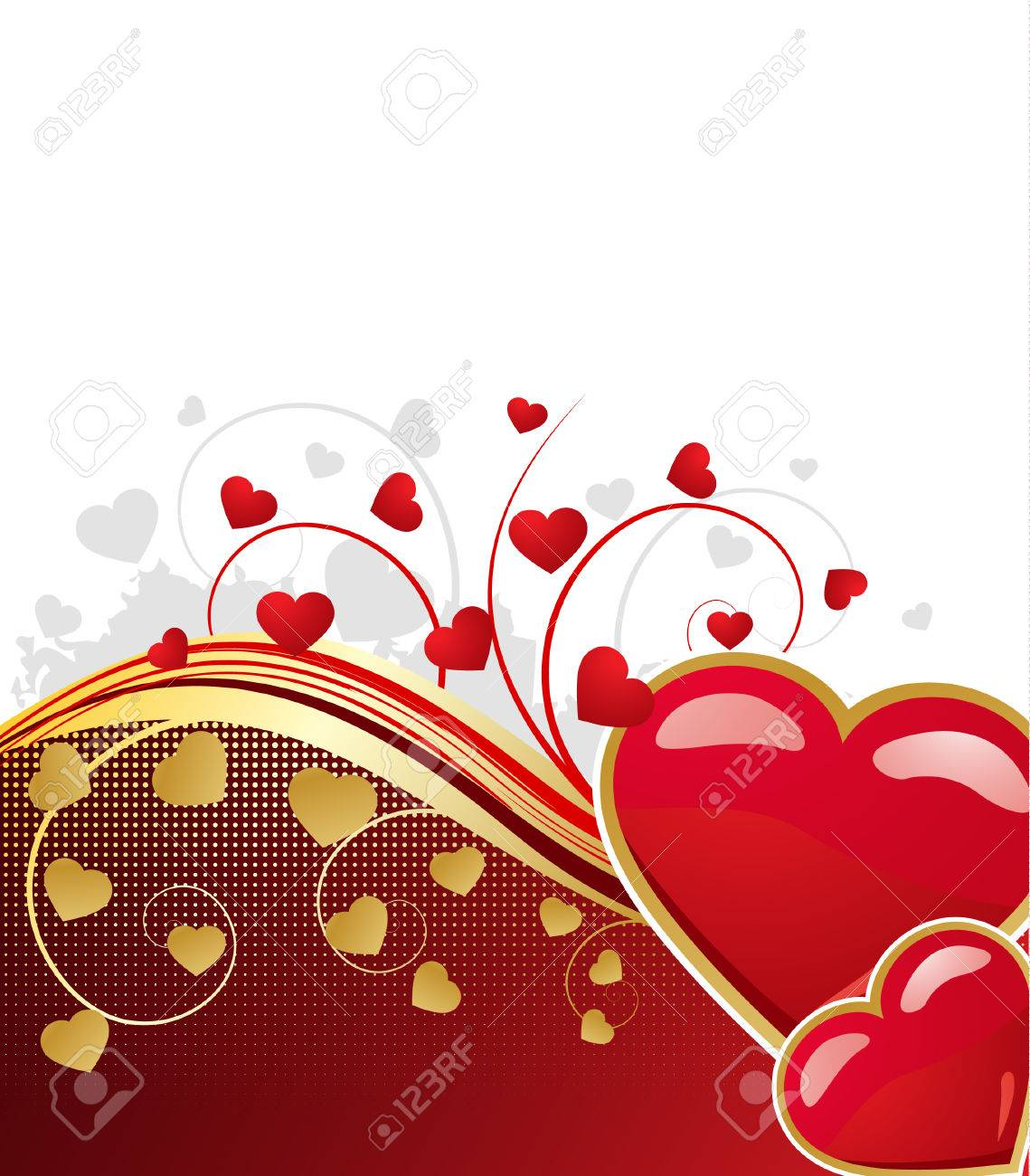 Valentine's floral background, vector illustration Stock Vector - 6132068