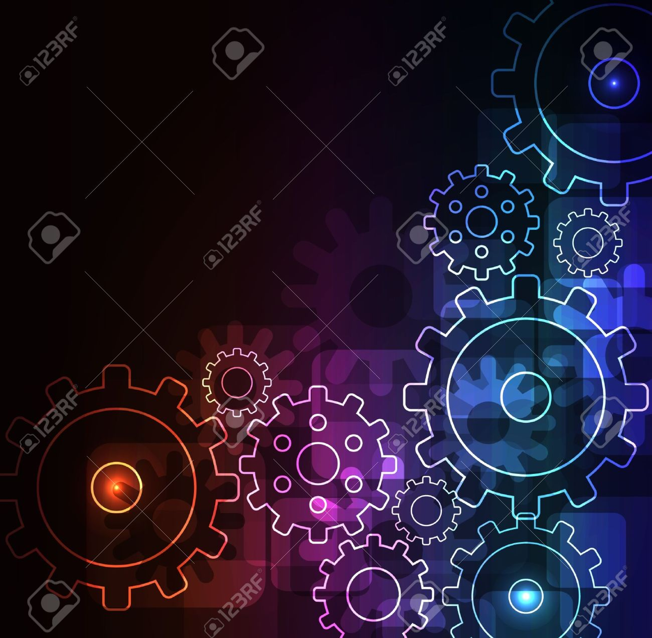 glowing abstract background Stock Vector - 7765863