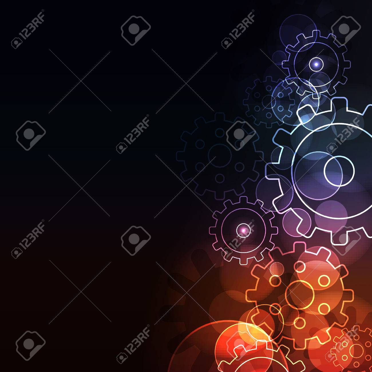 Stylized abstract background with  glowing elements Stock Vector - 8340898