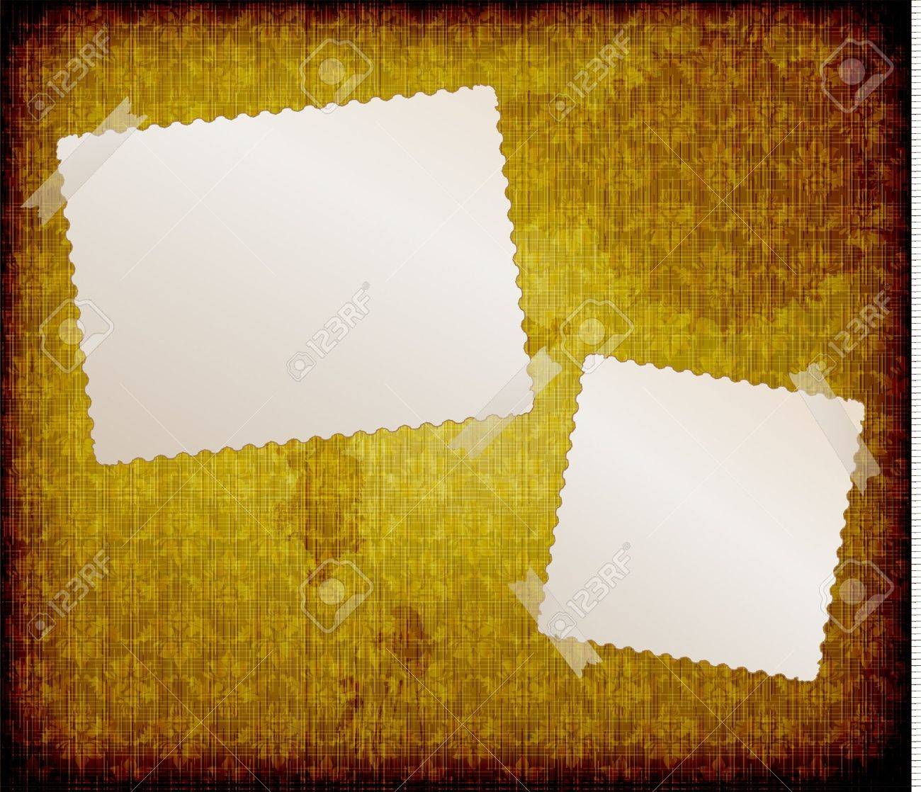 blank frames for photo on the grunge fabric background Stock Vector - 10458099