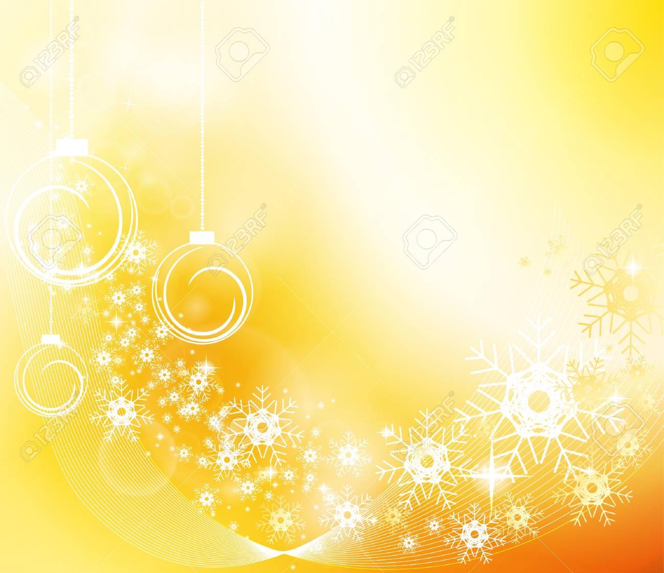 Golden Christmas Background Stock Vector - 11582790