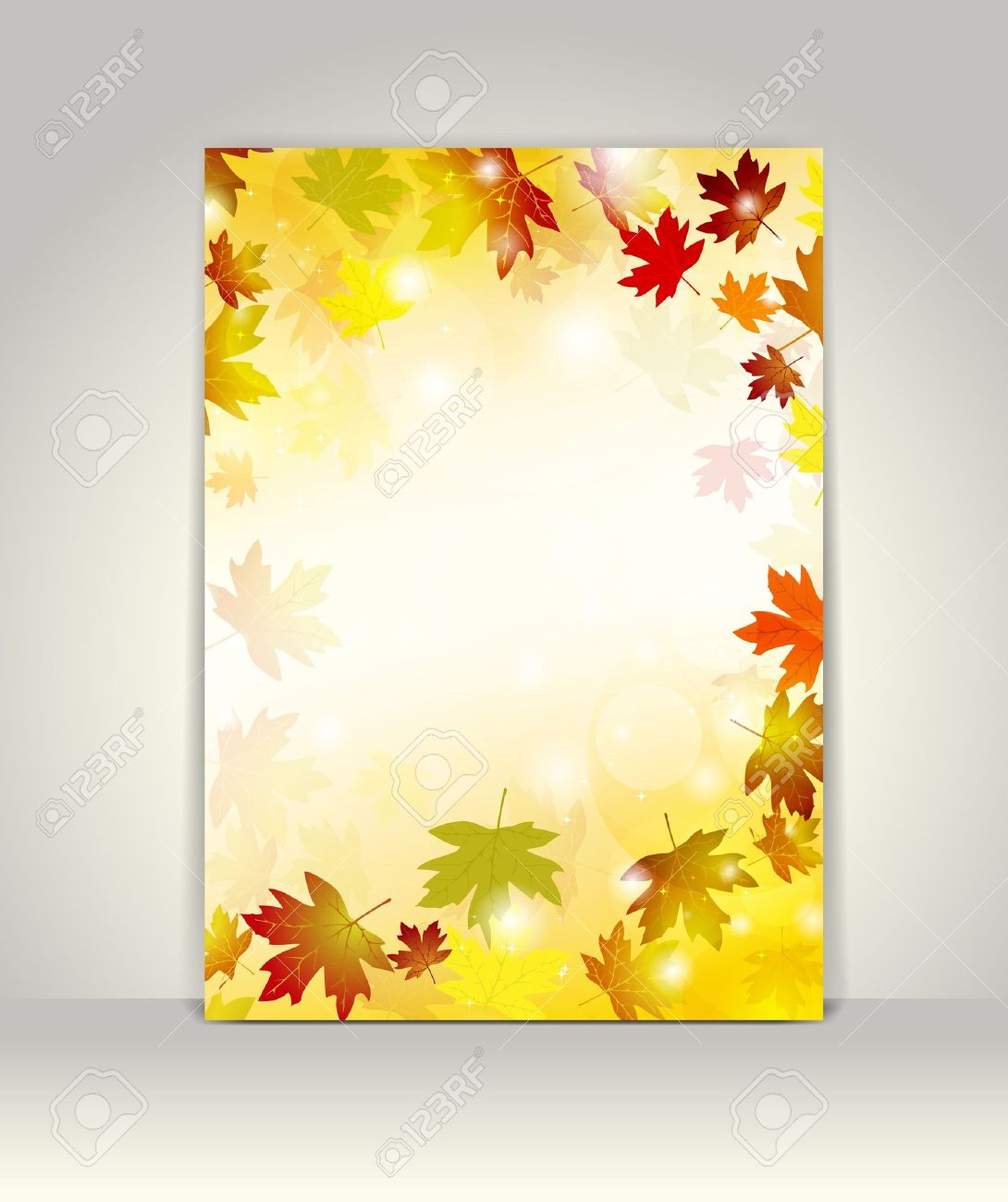 Business Brochure Design Template, Autumn Background Royalty Free ...