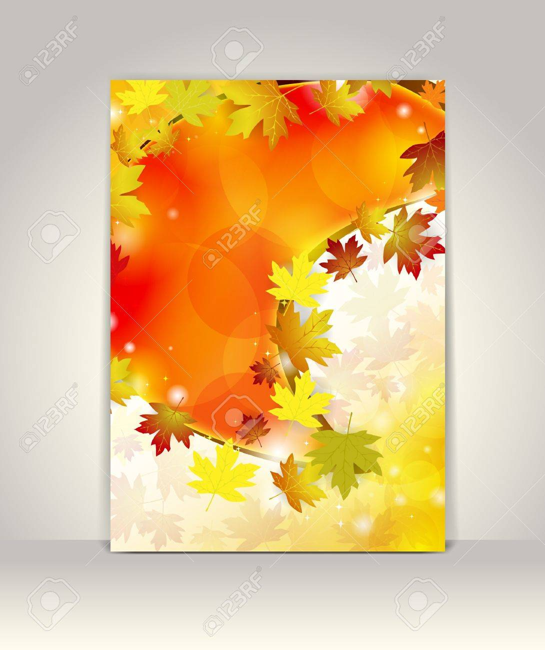 Business brochure design template, Autumn background Stock Vector - 15139043