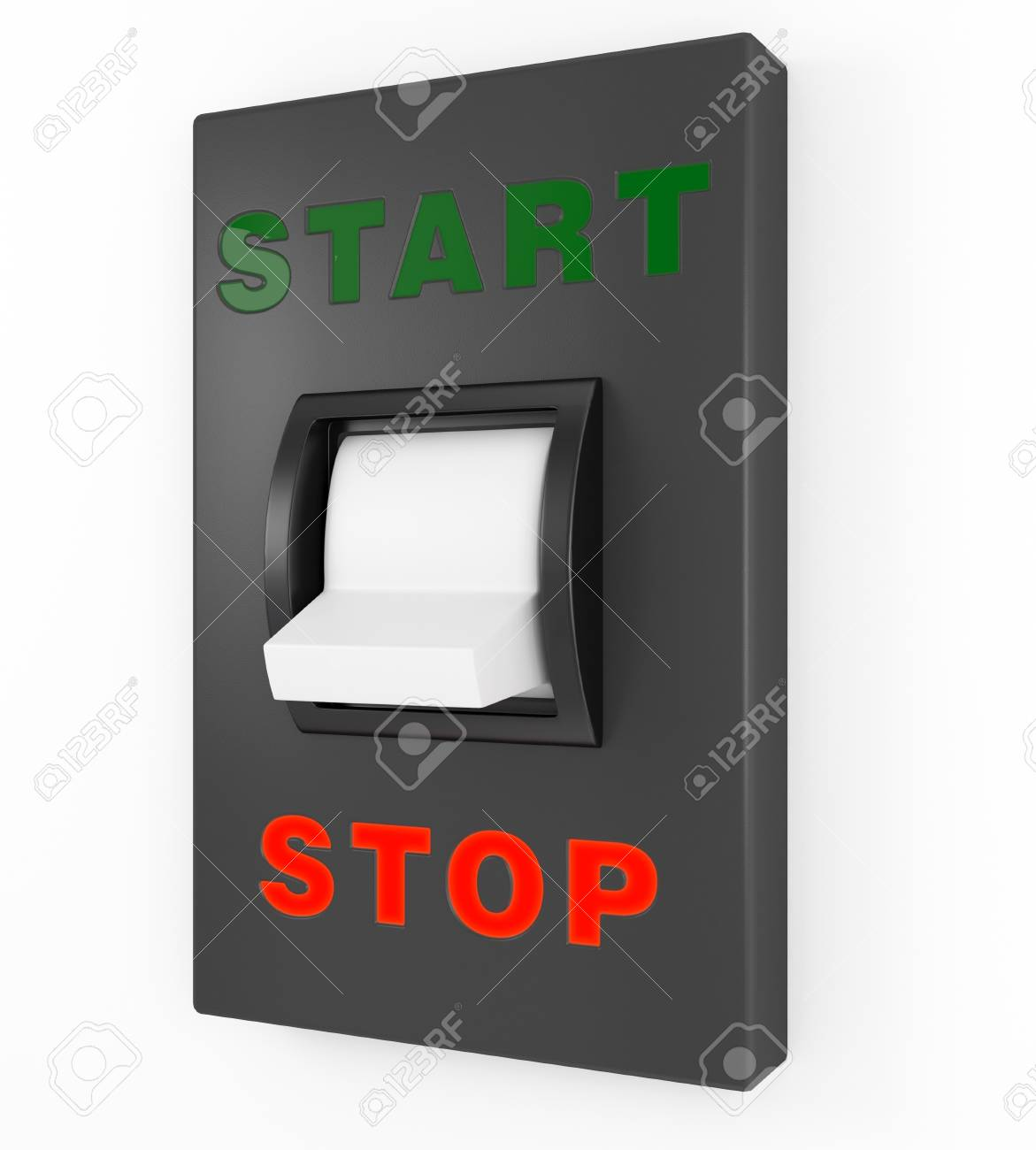 Toggle switch in Stop position Stock Photo - 15139132