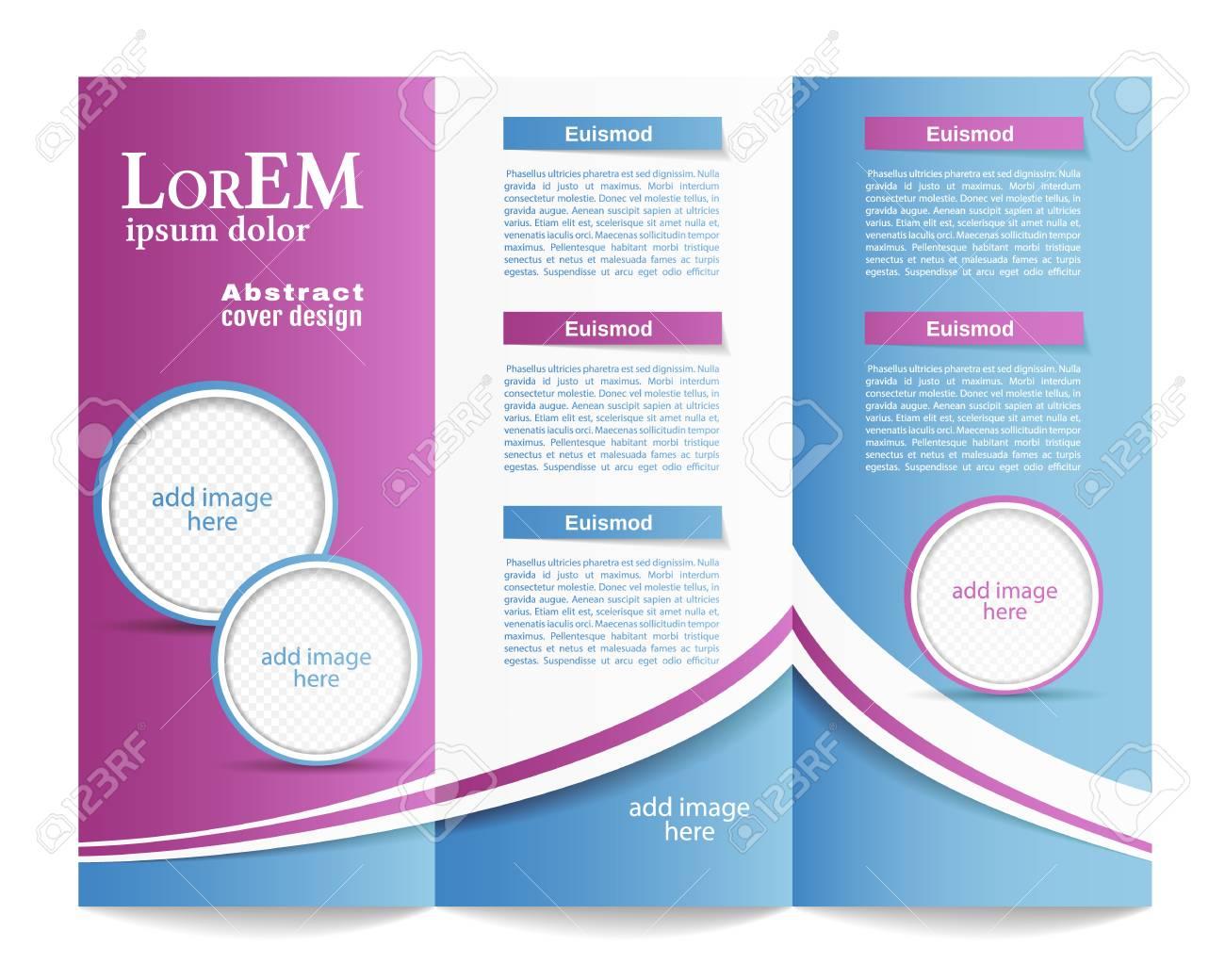 tri fold brochure template stock vector 48766668