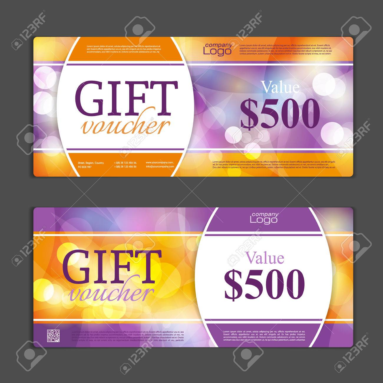 Gift Voucher Template. Can Be Use For Shopping Cards, Discount ...
