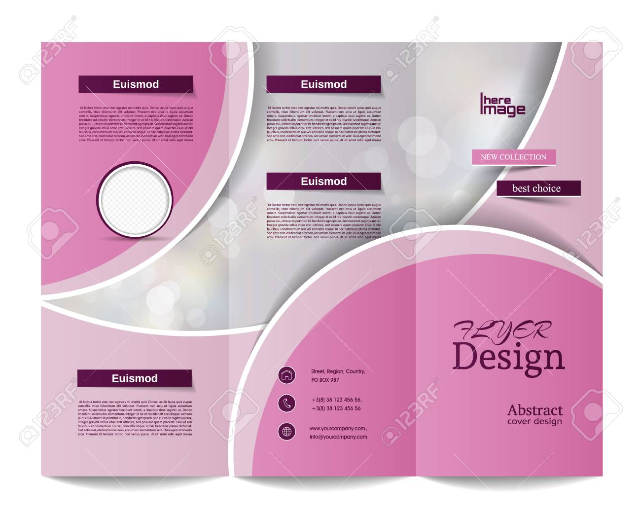 Tri Fold Brochure Templaterporate Business Background Or Cover