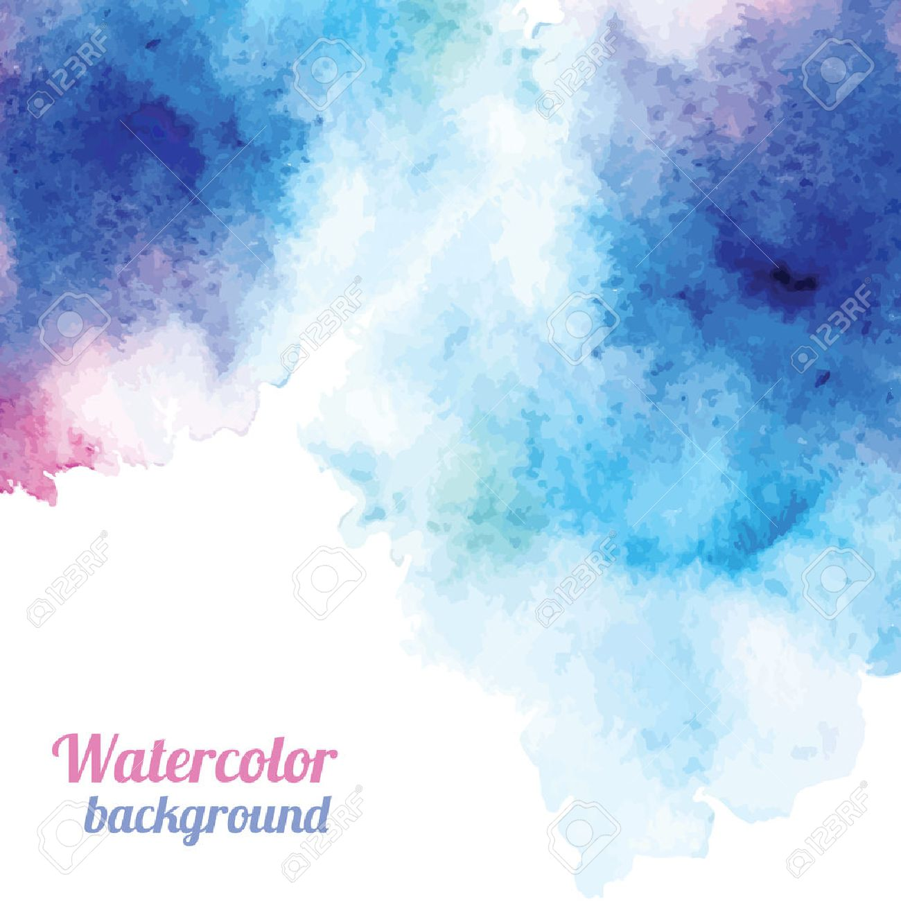 Watercolor Background. Vector Illustration For Your Design Royalty ...