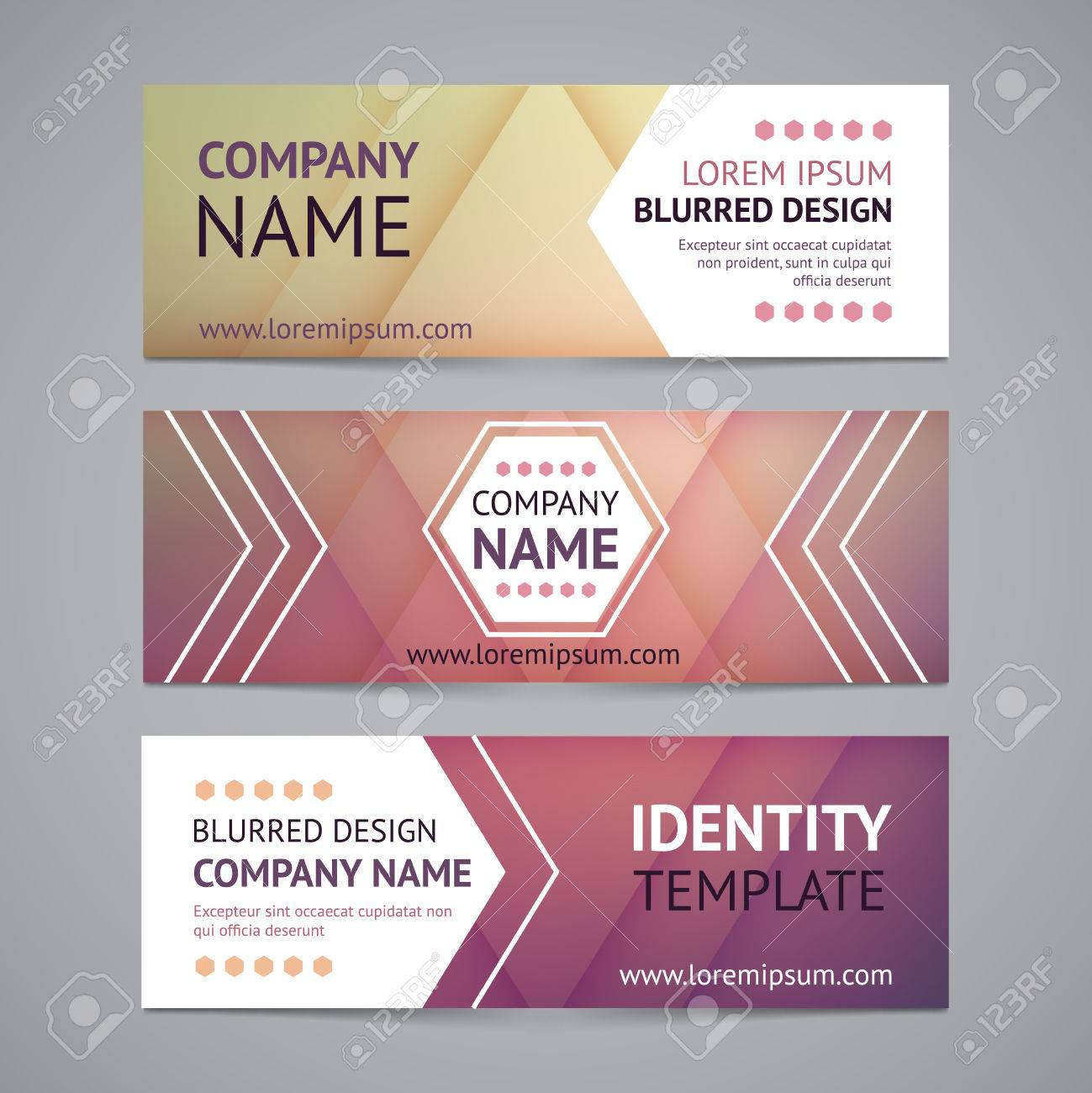 vector company banners with blurred backgrounds royalty free