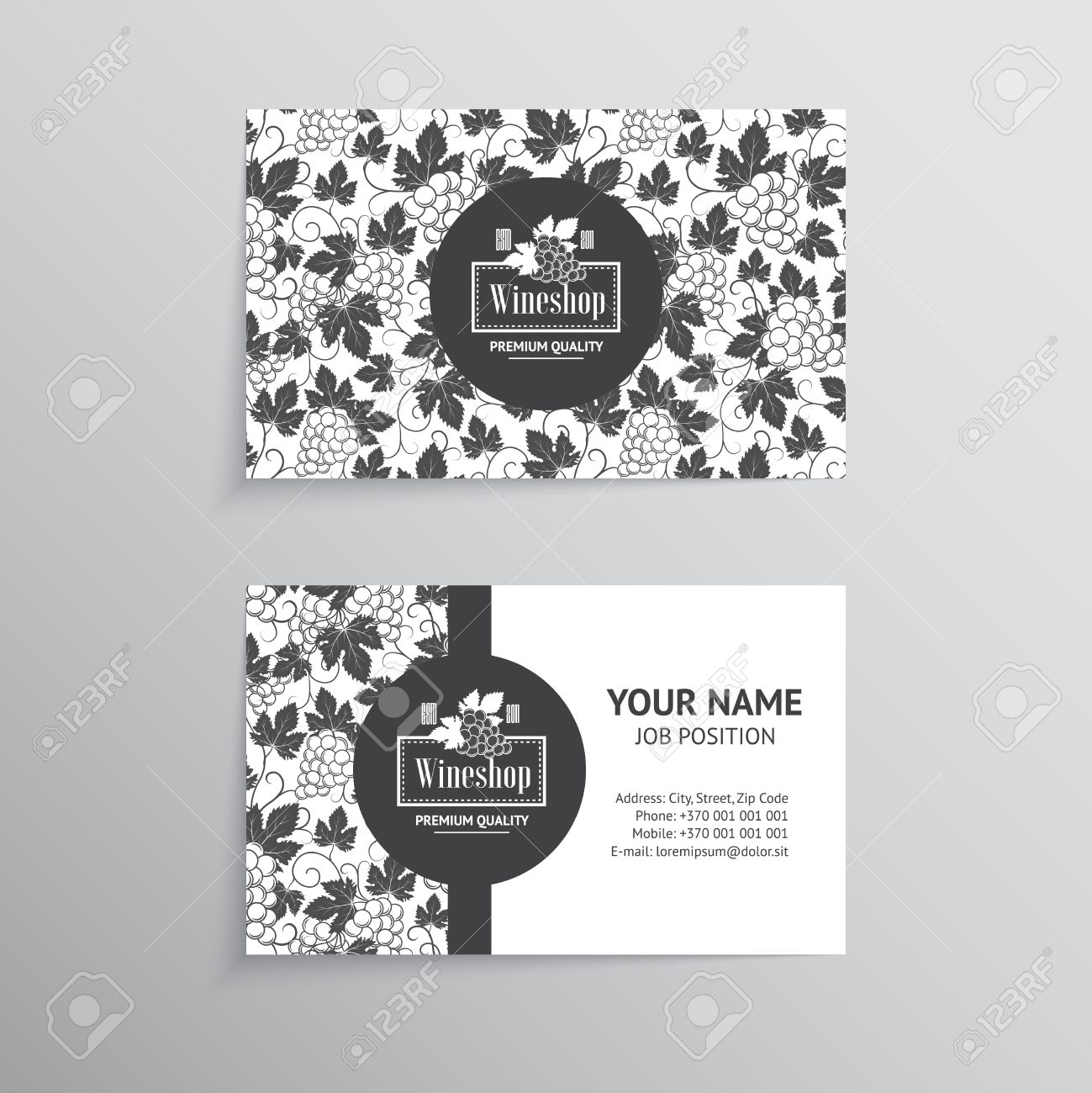 Set of business cards templates for wine company royalty free set of business cards templates for wine company stock vector 38958857 flashek Gallery