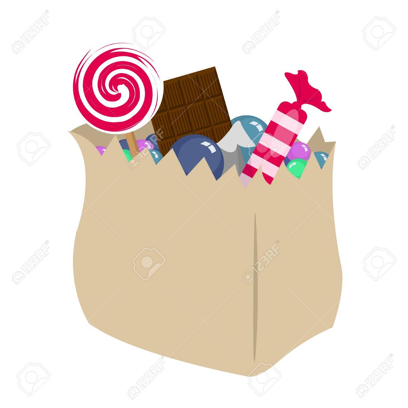 お菓子のパッケージのイラストのイラスト素材ベクタ Image 78003424