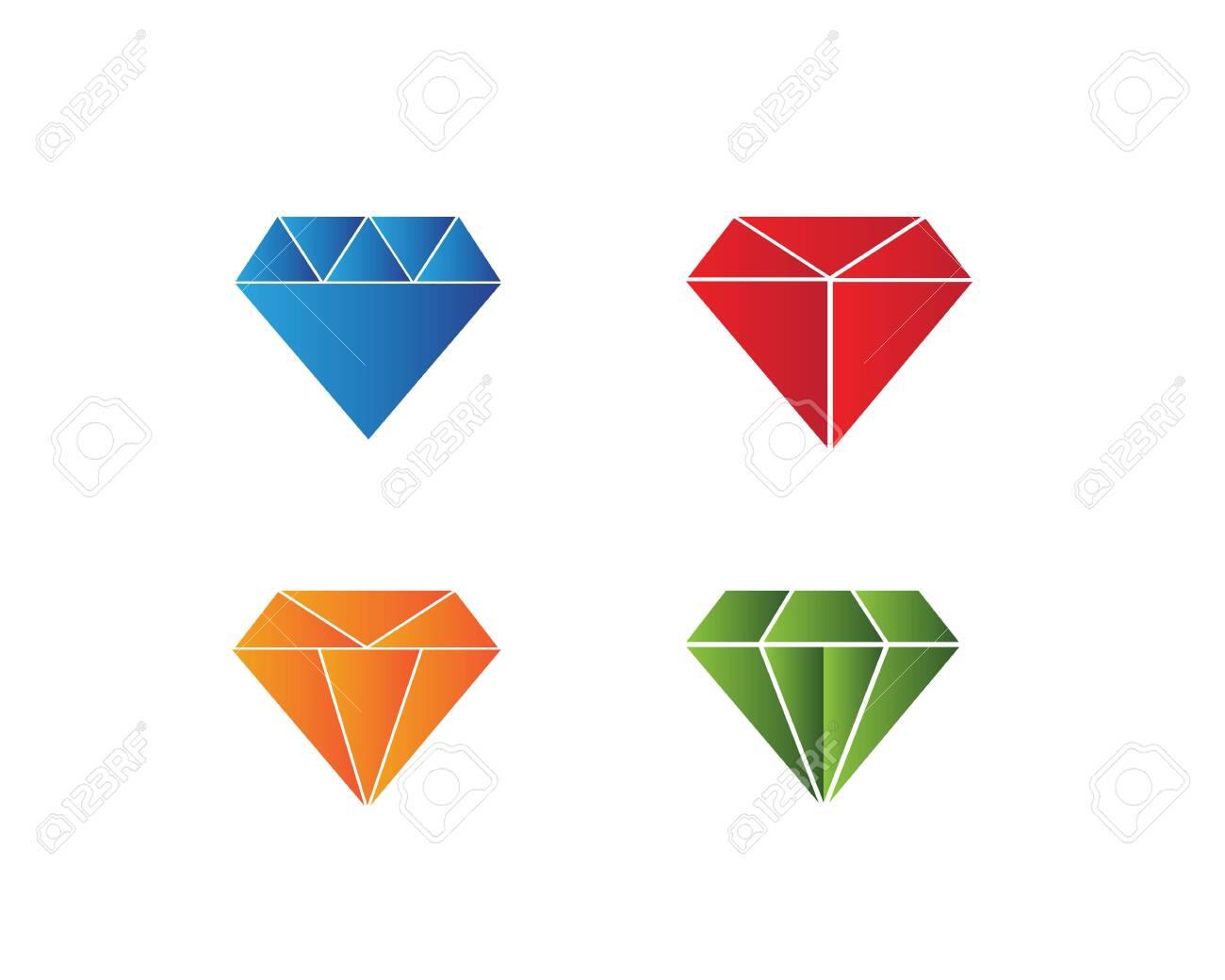 Diamond Logo Template vector icon illustration design - 128974533