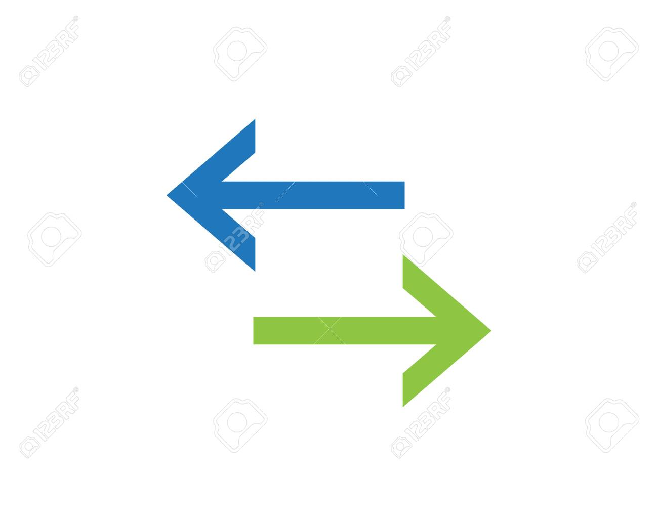 Symbol Of Bidirectional Arrows Data Transfer Vector Royalty Free Cliparts Vectors And Stock Illustration Image 128974744