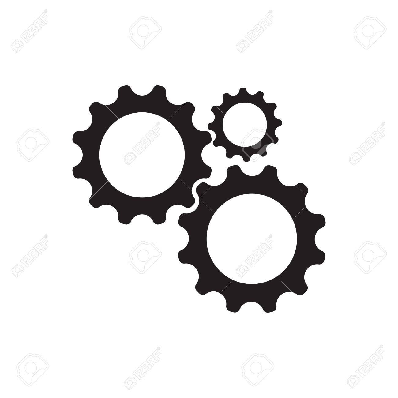 Gear Logo Template vector icon illustration design - 129150581