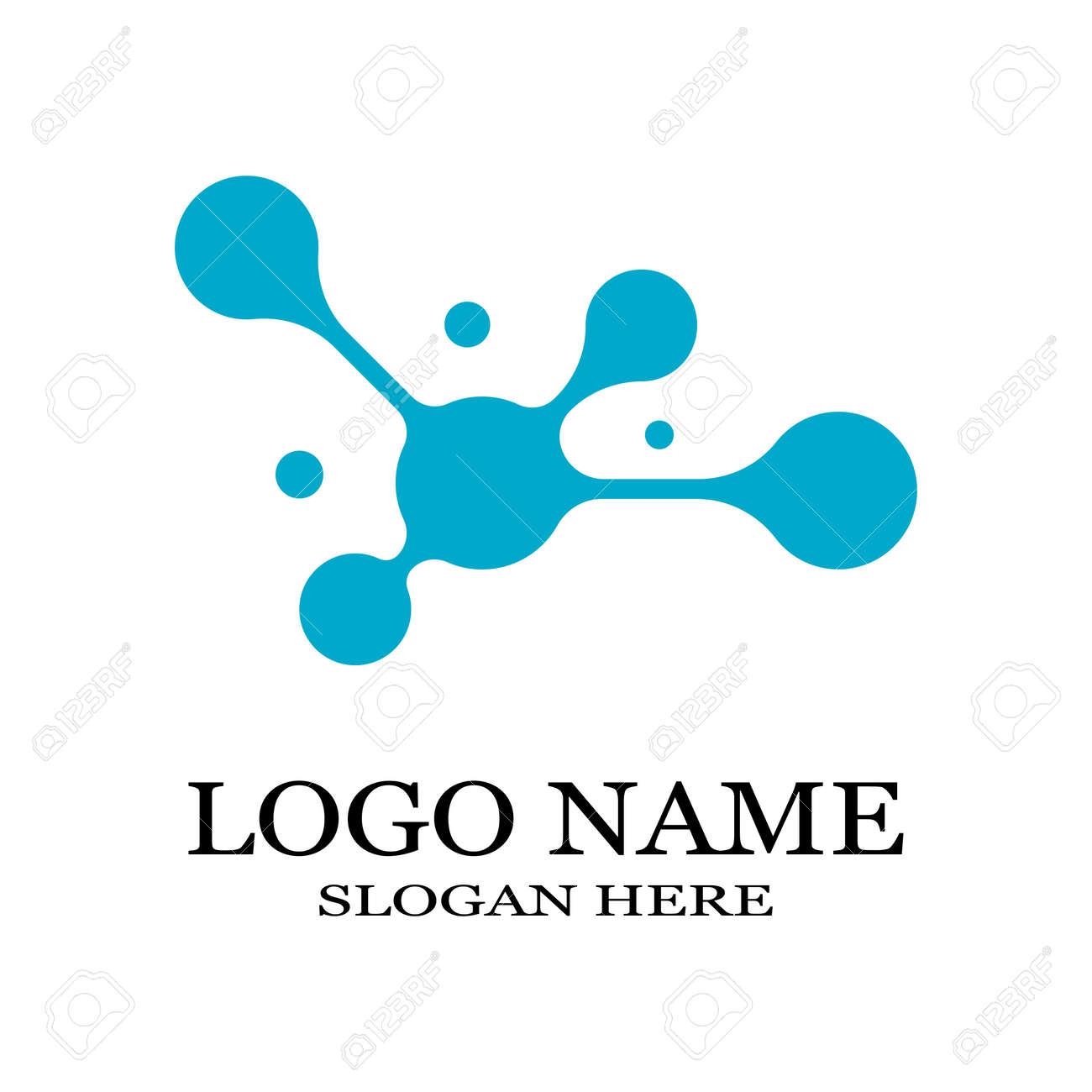 Molecule symbol logo template vector illustration design - 166098041