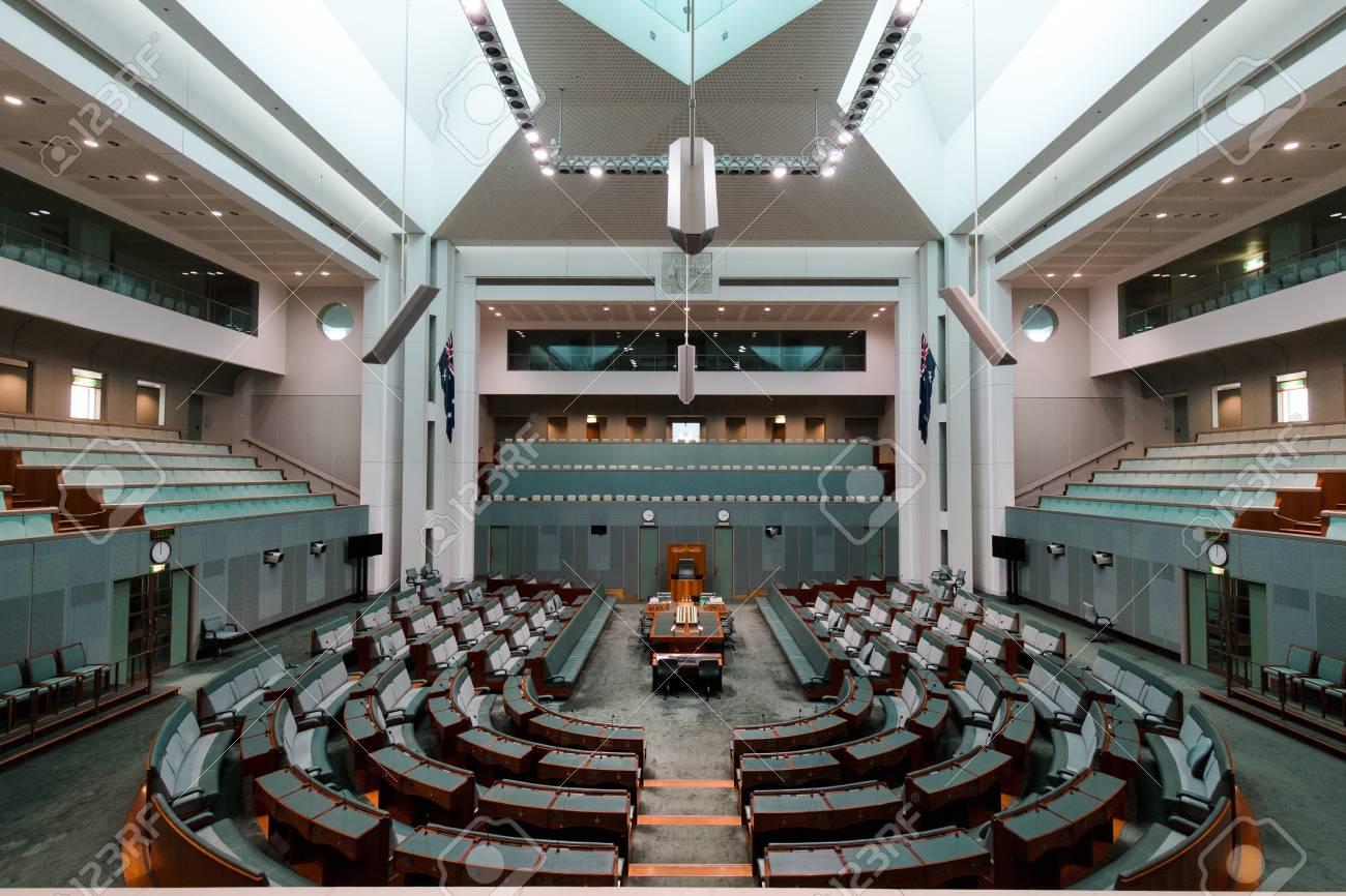 Canberra australië oktober een weergave in huis van