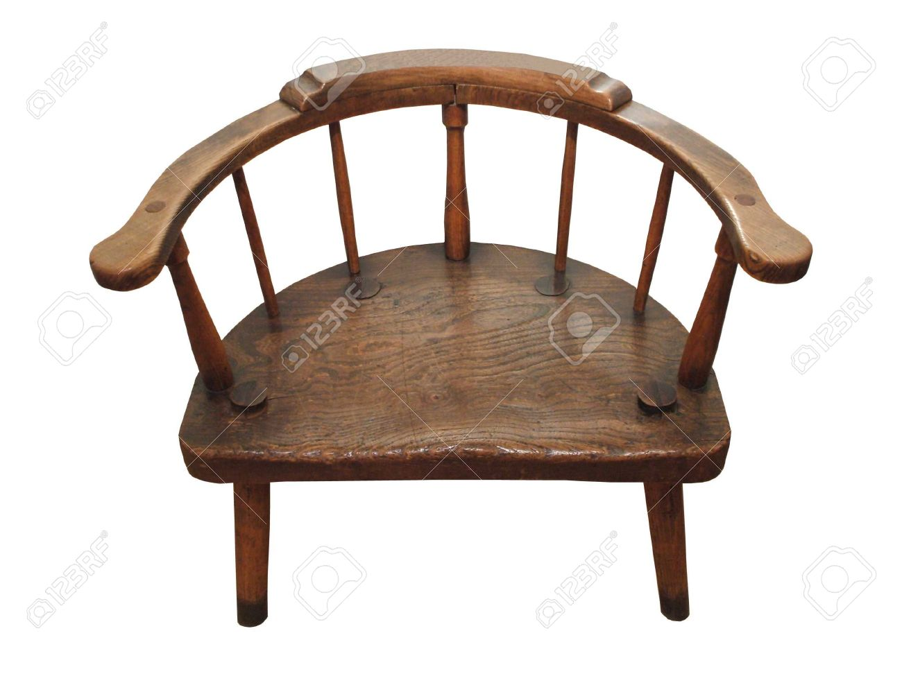 A Round Backed Wide Antique Wooden Chair. Stock Photo - 5902331 - A Round Backed Wide Antique Wooden Chair. Stock Photo, Picture And