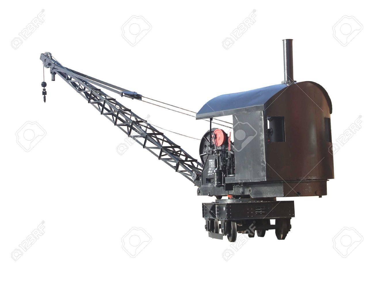 A Rail Mounted Harbour Dockside Vintage Crane. Stock Photo - 5939303