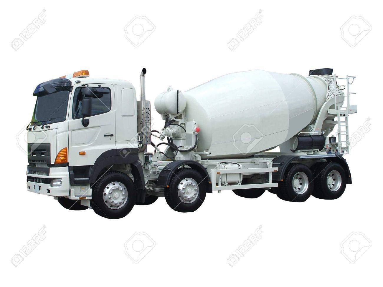 a large cement mixing and delivery lorry stock photo picture and