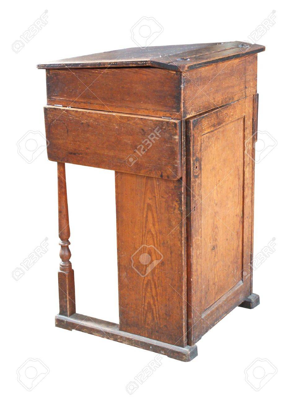 An Antique Wooden School Teachers High Desk. Stock Photo - 7133197 - An Antique Wooden School Teachers High Desk. Stock Photo, Picture