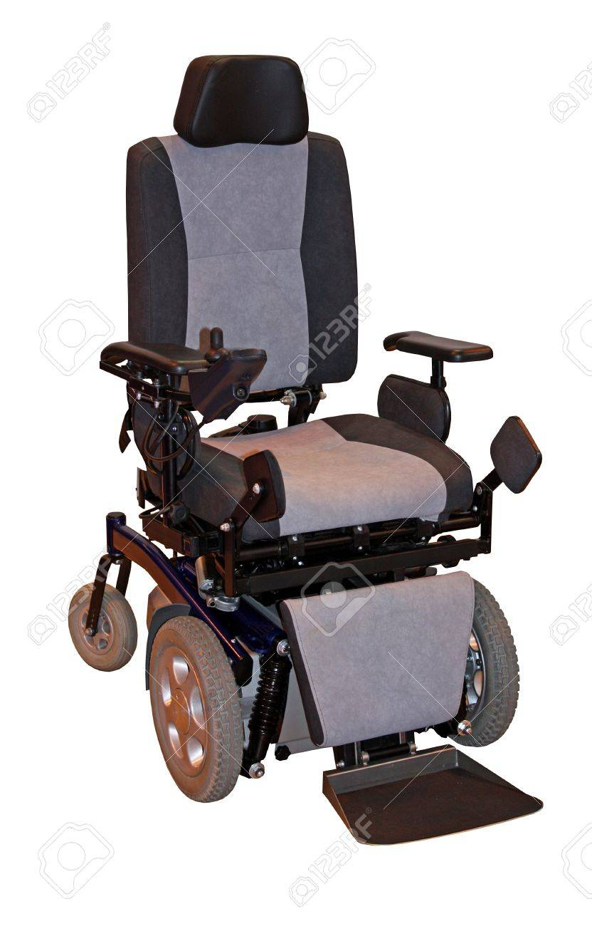 A Large Modern Electric Motorised Disability Wheelchair. Stock Photo ...