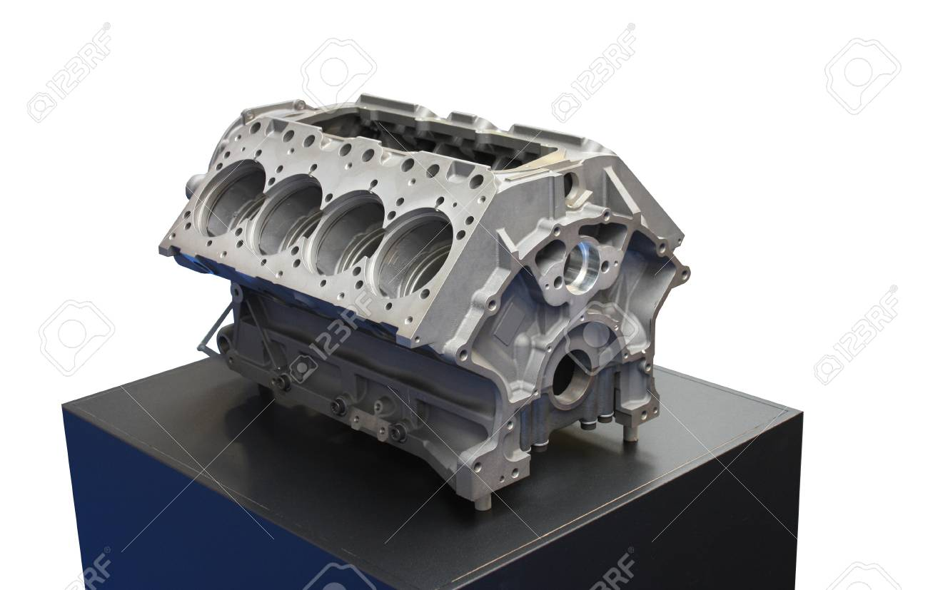 The Engine Block of a Large Vehicle Truck. Stock Photo - 9897158