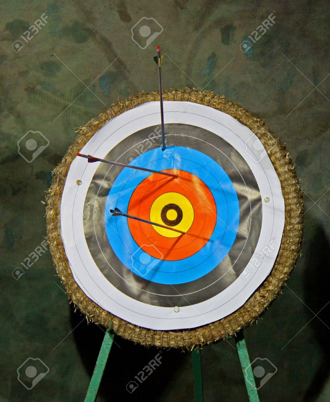 A Traditional Archery Target on a Straw Backed Stand