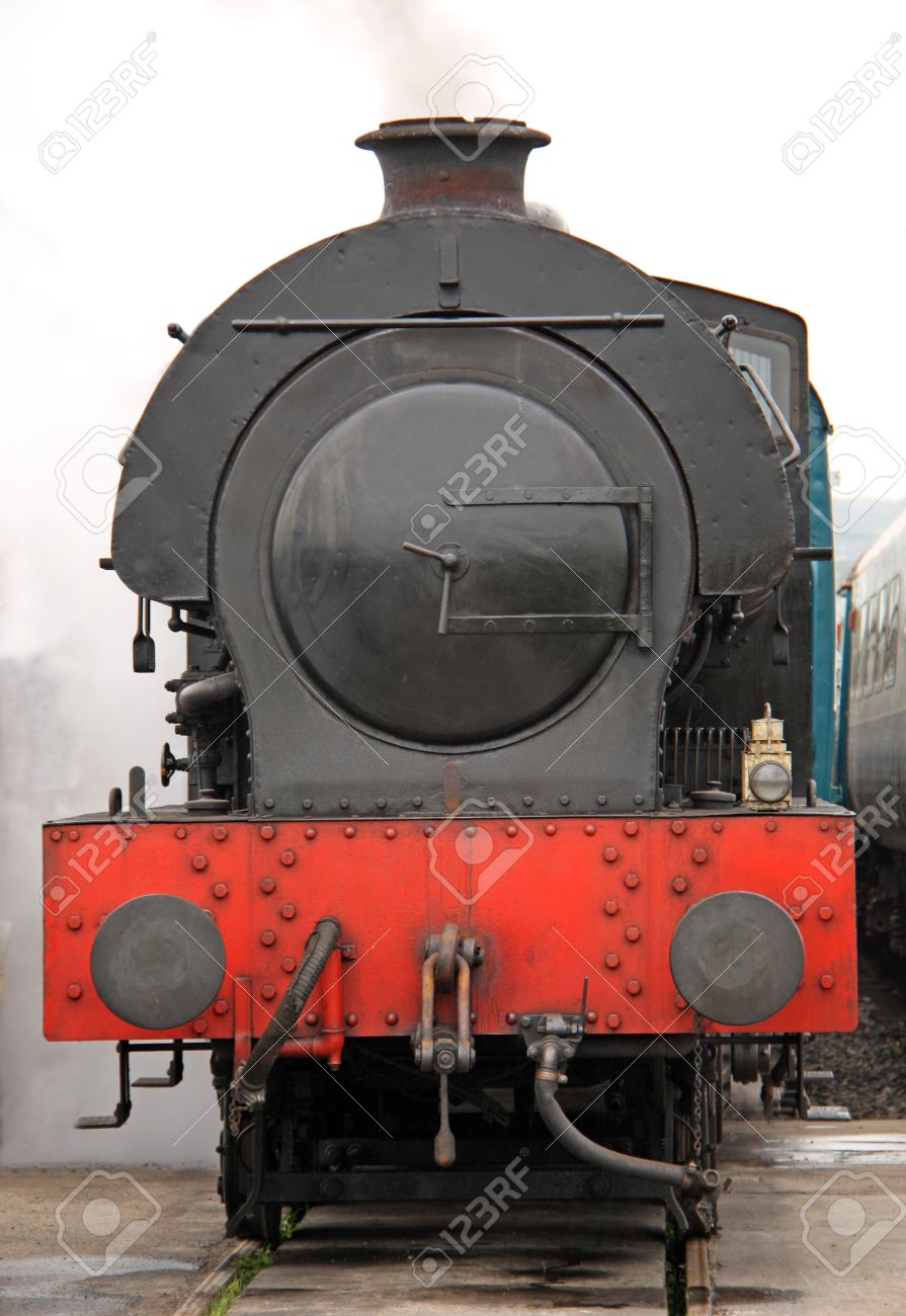 The Front Of A Vintage Steam Train Engine Stock Photo Picture And