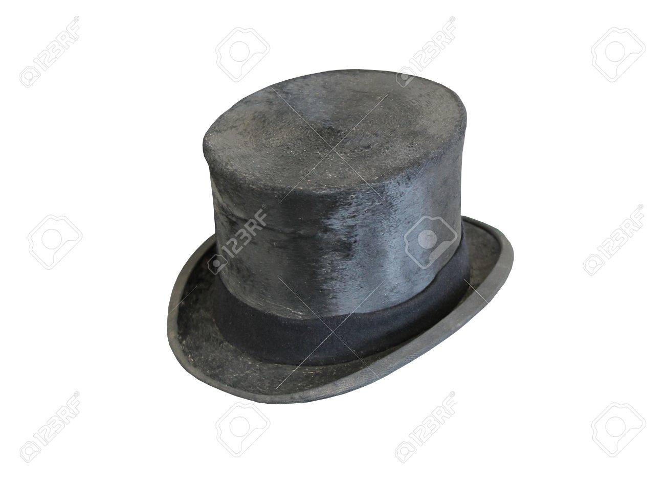 A Traditional Old Fashioned Grey Top Hat. Stock Photo - 15171180