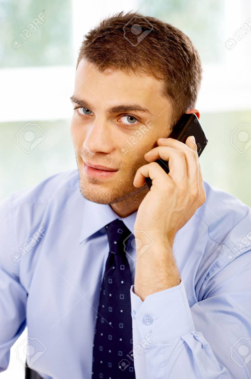 Young business man working in the office Stock Photo - 4752625