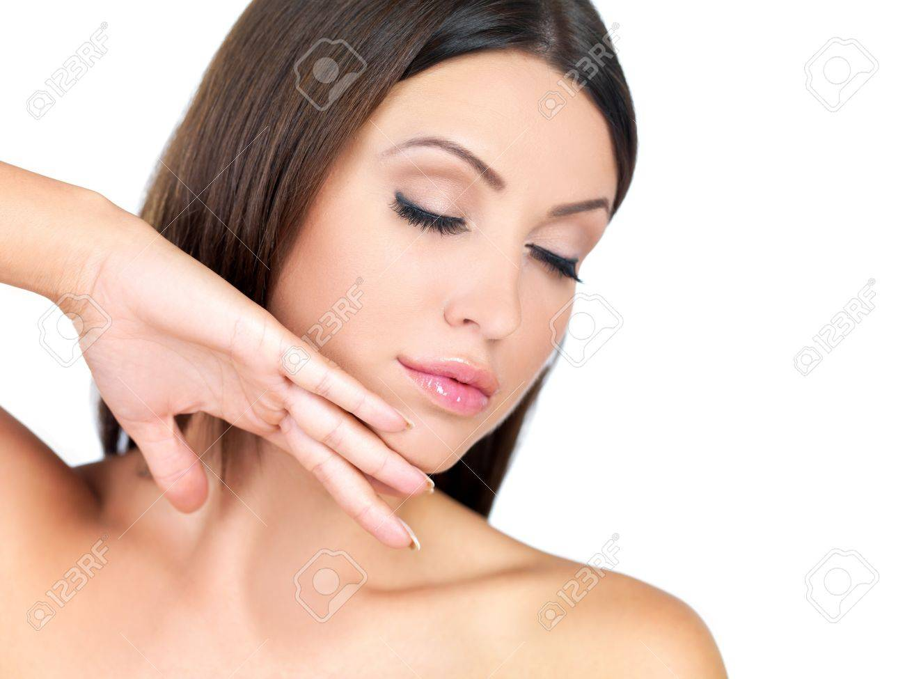 Portrait of beautiful woman with eyes closed Stock Photo - 7790646